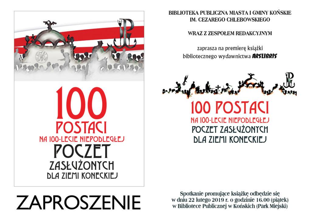 100 postaci zaproszenie