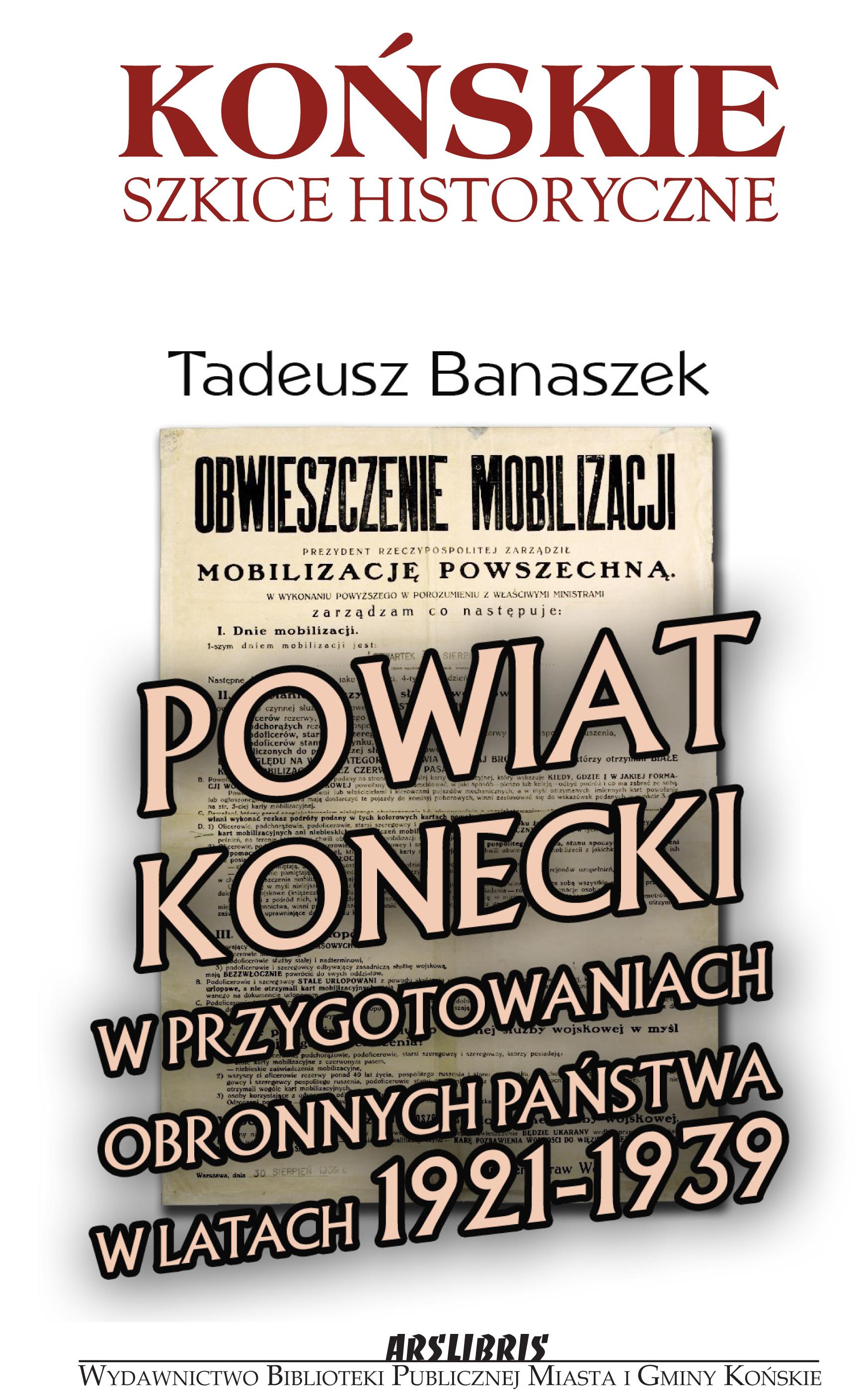 Okładka Banaszek Powiat konecki