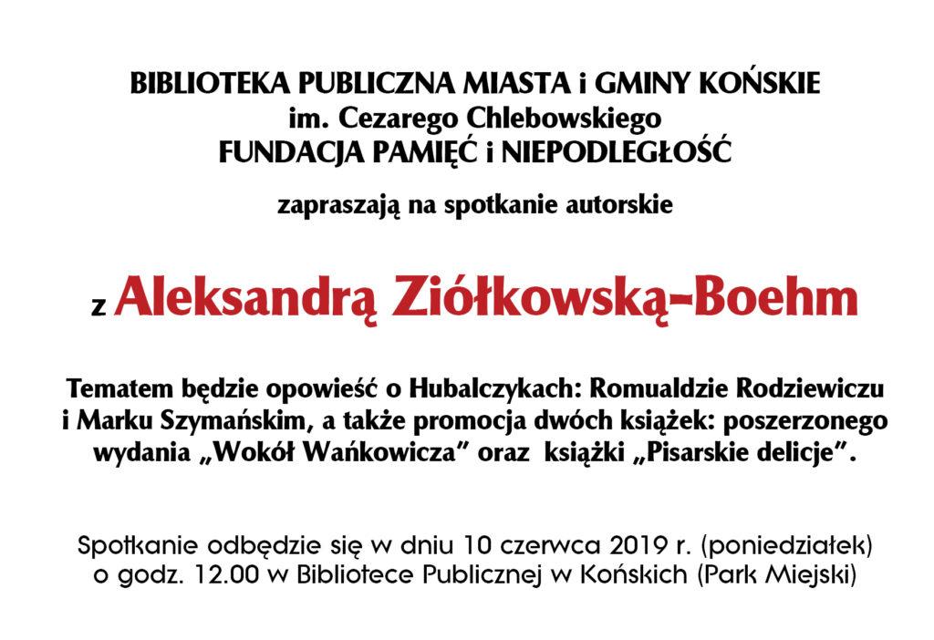 Zaproszenie Ziółkowska Boehm rewers